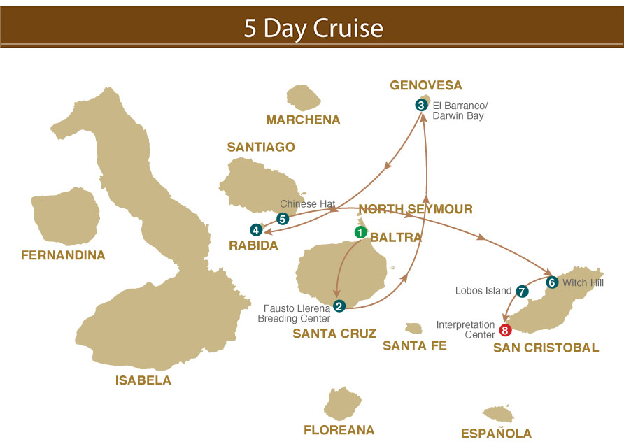 Majestic Galapagos Yacht 5 Day Cruise