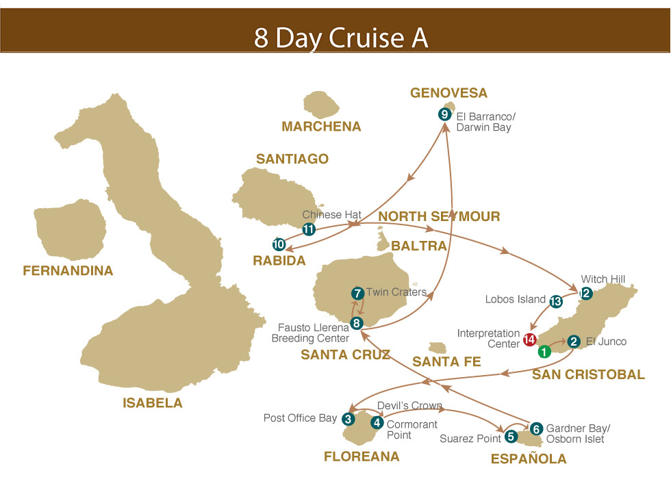 Majestic Galapagos Yacht 8 Day Cruise A