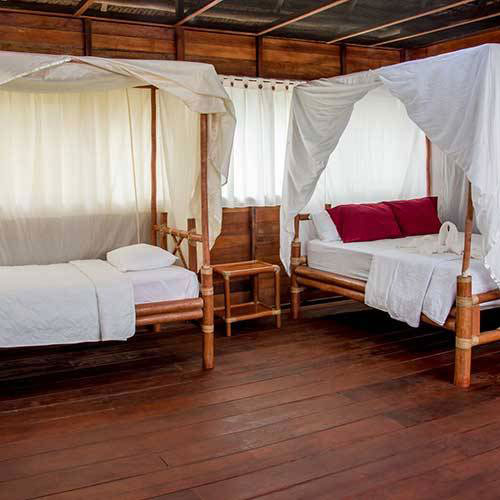 The Tahuayo Lodge Rooms